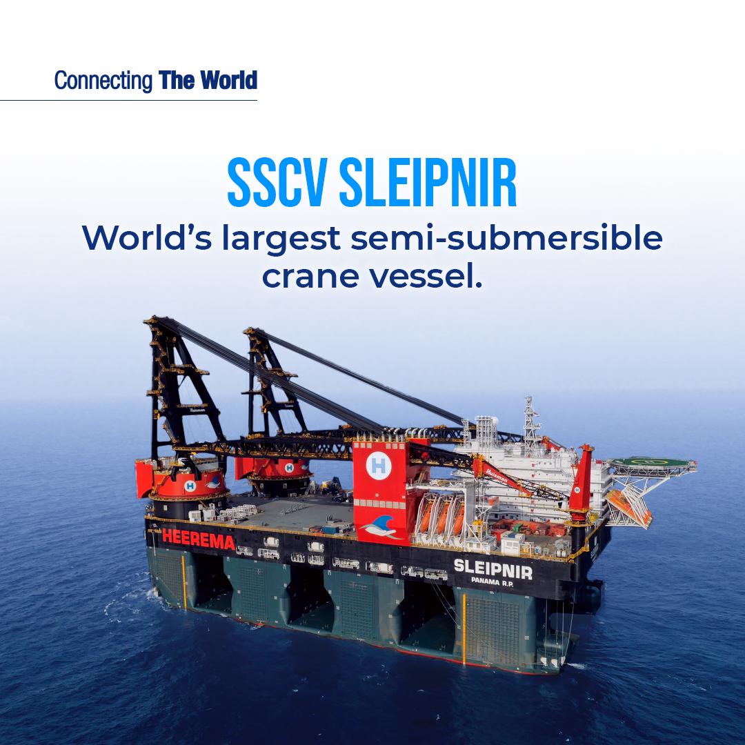 Sleipnir the largest crane vessel in the world