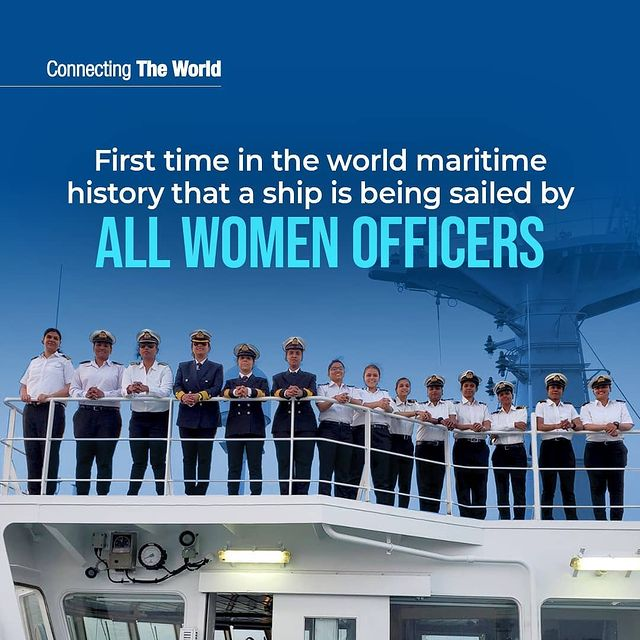 World's first ship commanded by all women crew.